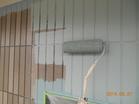 外壁 色分け2色目 中塗り作業